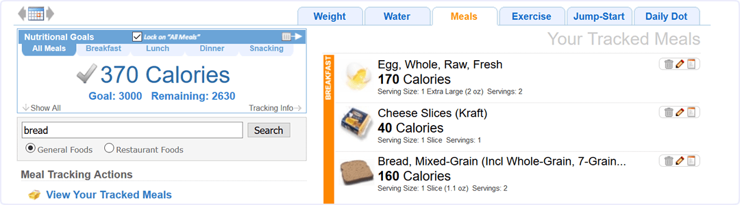 Diet Tracking